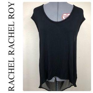 RACHEL ROY Hi Lo Sleeveless Sheer Back Sz XL
